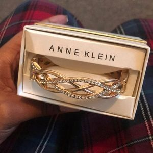 Crystal Gold Anne Klein Bangle Boxed